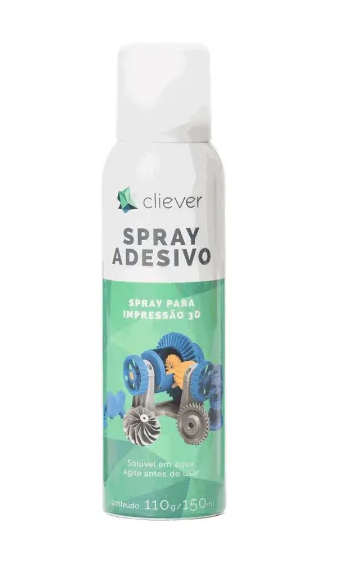 Filamento PLA - Bronze - Cliever - 1.75mm - 1kg + 1 Spray Fixador