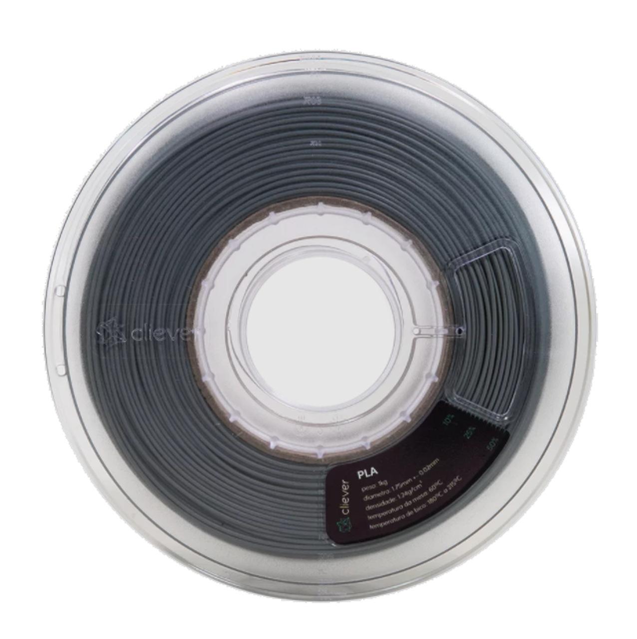 Filamento PLA - Cinza - Cliever - 1.75mm - 1kg