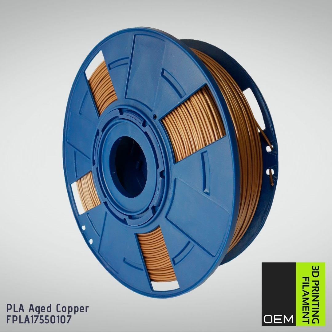 Filamento PLA  Cobre - OEM - 1.75mm - 1KG