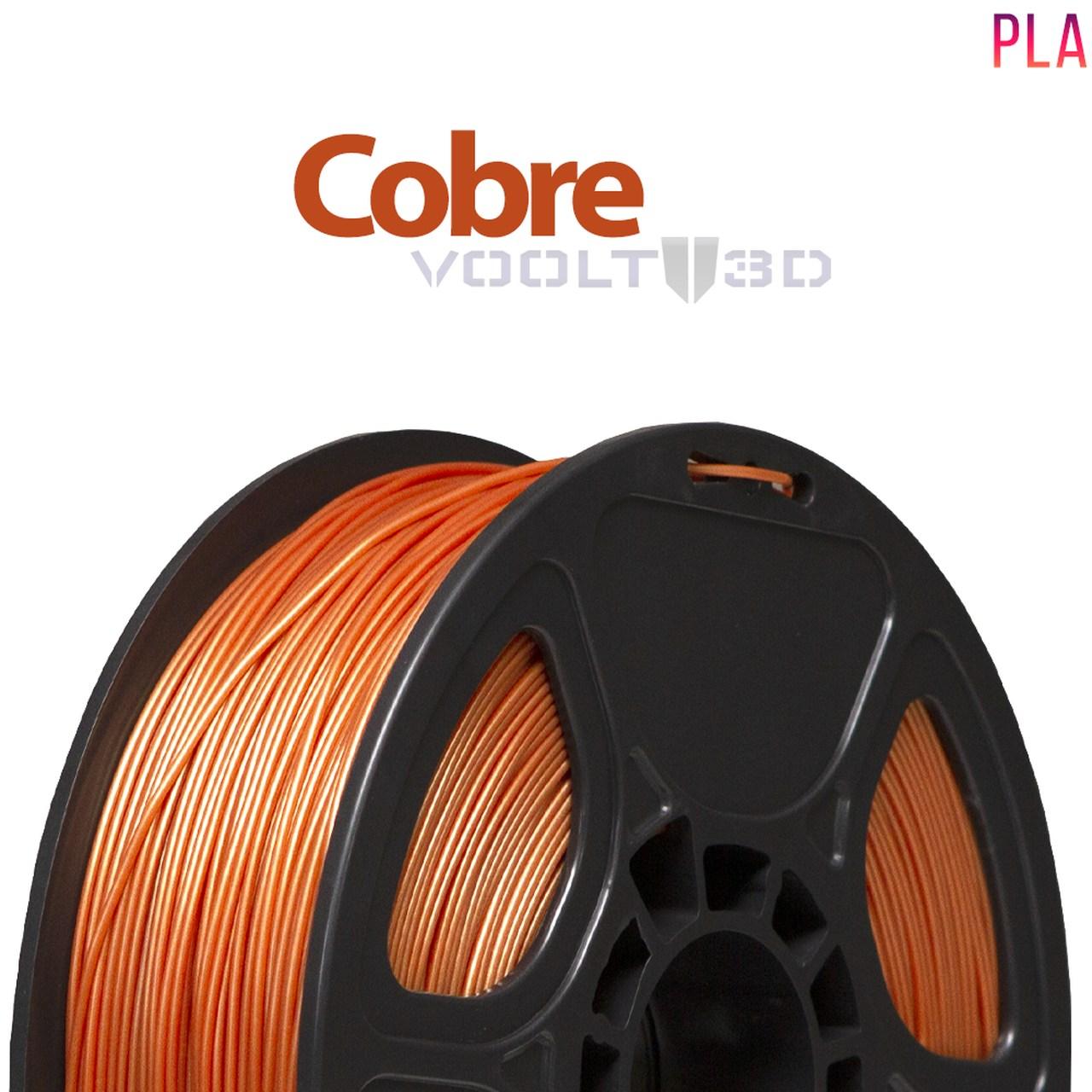 Filamento PLA - Cobre - Voolt - 1.75mm - 1kg