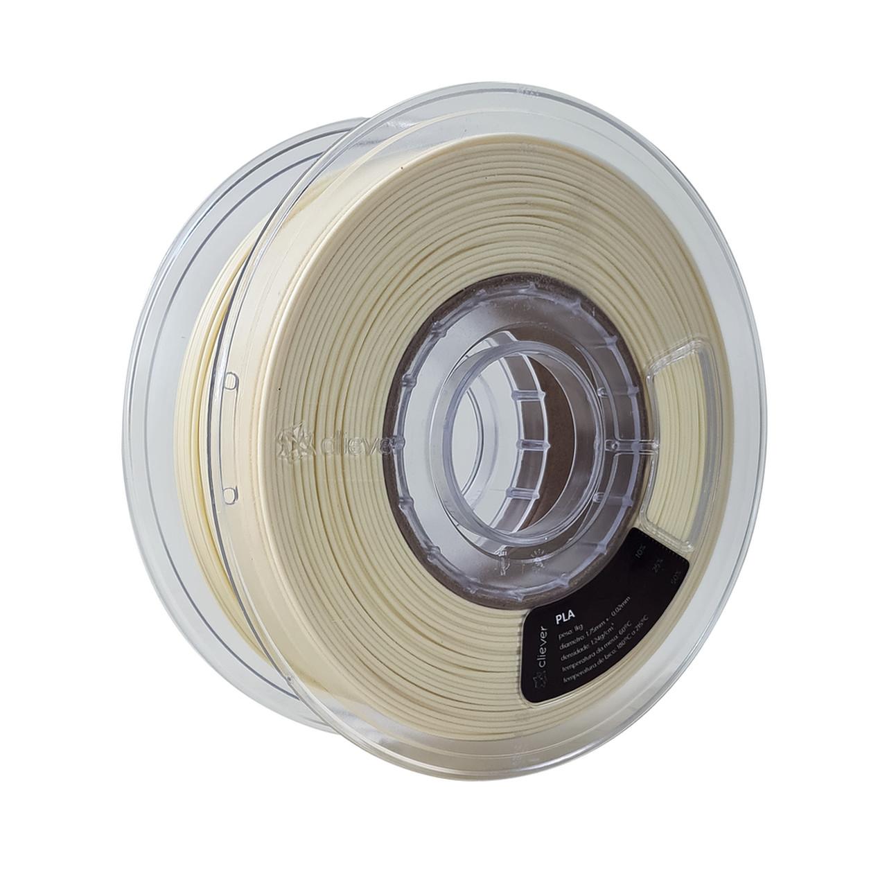 Filamento PLA - Creme - Cliever - 1.75mm - 1kg