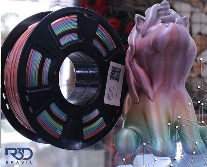 Filamento PLA - Easyfill - Rainbow - R3D - 1.75mm - 1kg