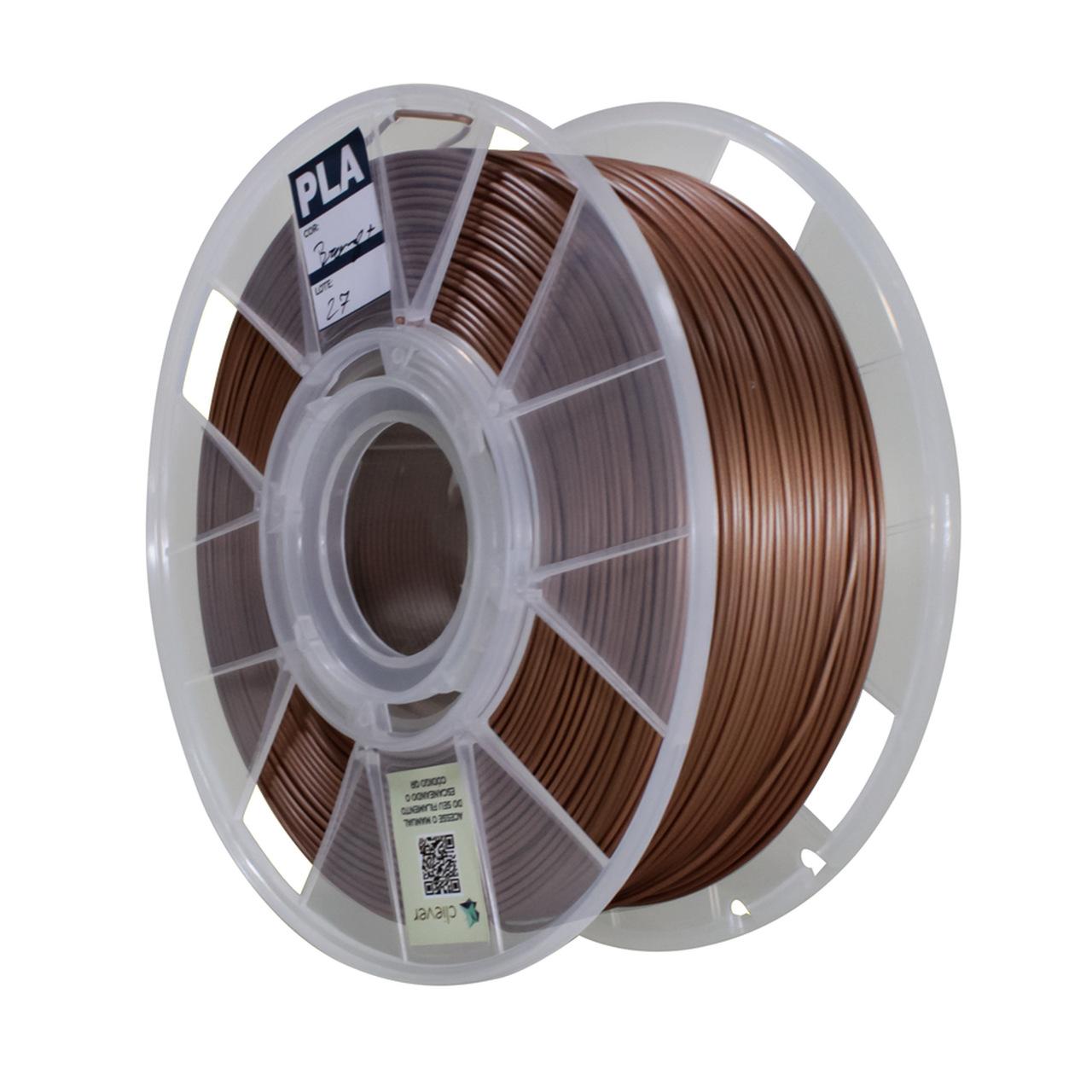 Filamento PLA Flow - Bronze - Cliever - 1.75mm - 1kg