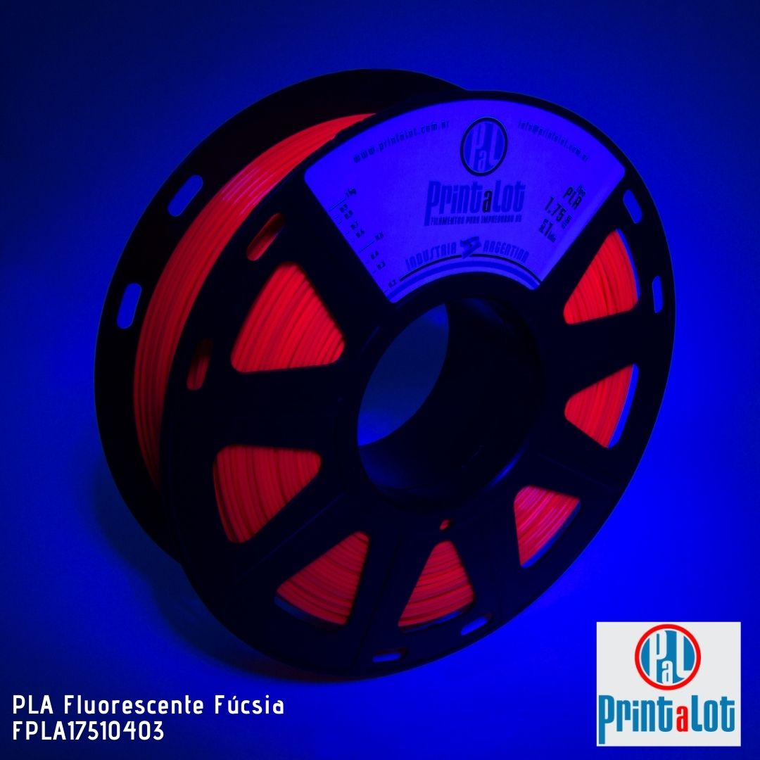 Filamento PLA - Fluorescente Fuccia - PrintaLot - 1.75mm - 1KG