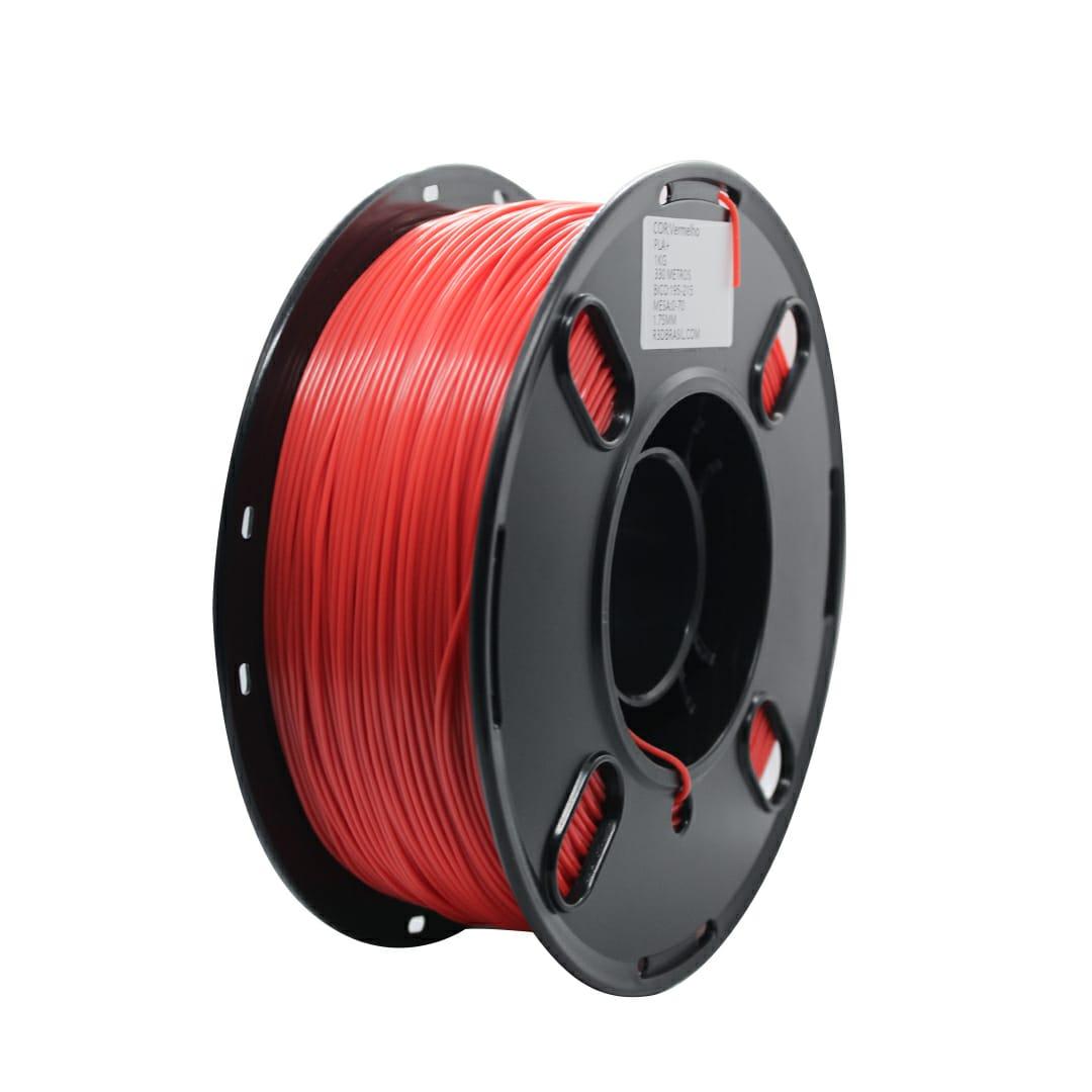 Filamento PLA - INGEO - Vermelho - R3D - 1.75mm - 1kg