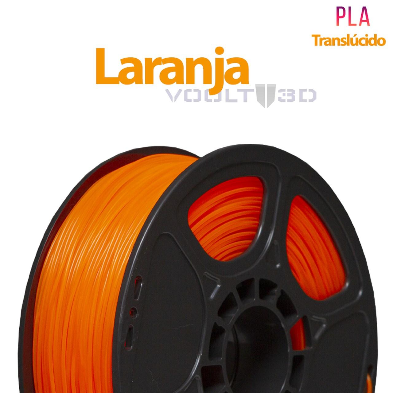 Filamento PLA - Laranja Translúcido - Voolt - 1.75mm - 1kg