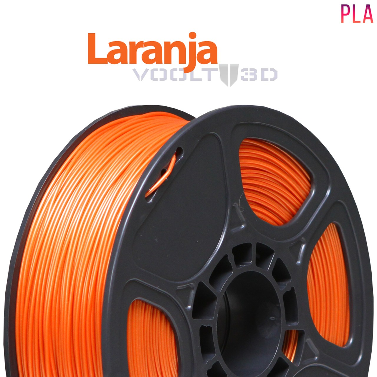 Filamento PLA - Laranja - Voolt - 1.75mm - 1kg