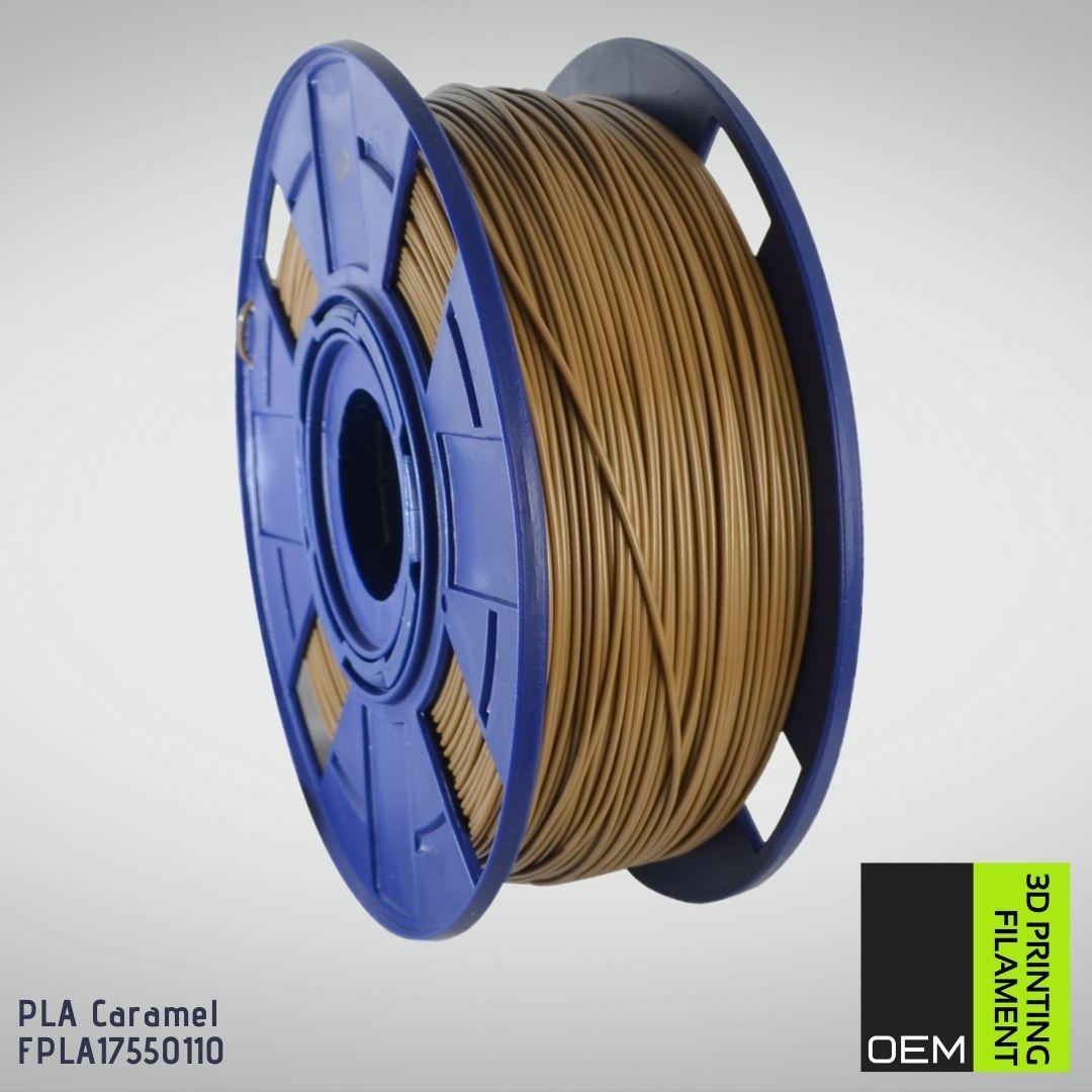 Filamento PLA - Marrom - OEM - 1.75mm - 1KG