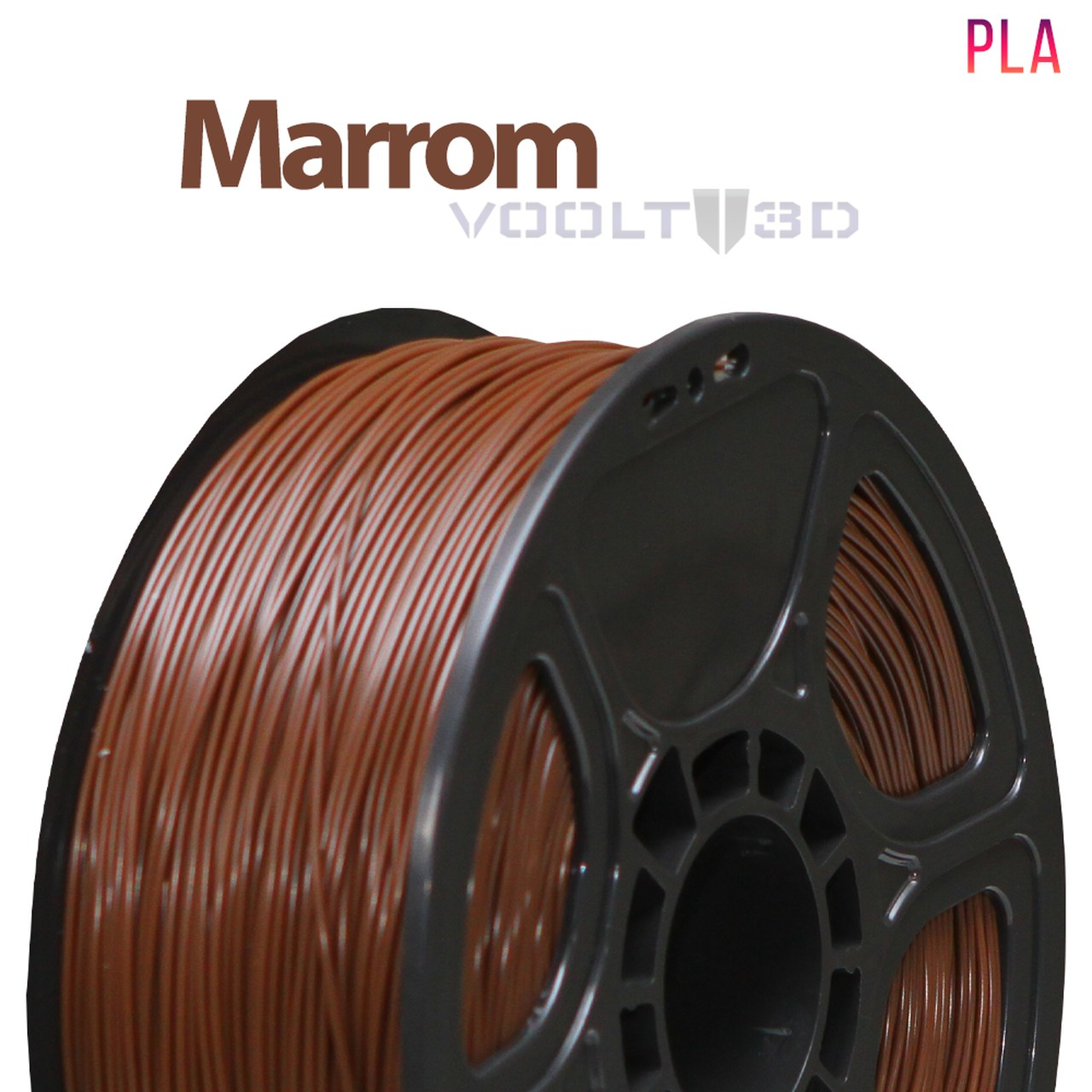 Filamento PLA - Marrom - Voolt - 1.75mm - 1kg