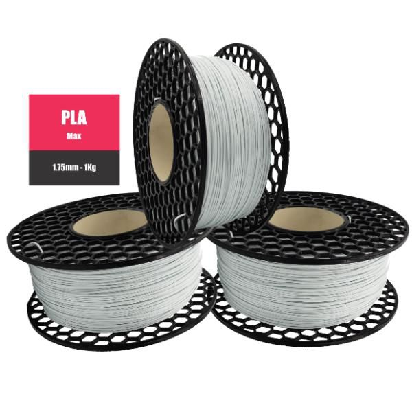 Filamento PLA Max Branco - National 3D - 1.75mm - 1KG