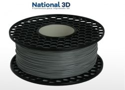 Filamento PLA Max - Cinza Claro - National 3D - 1.75mm - 500g