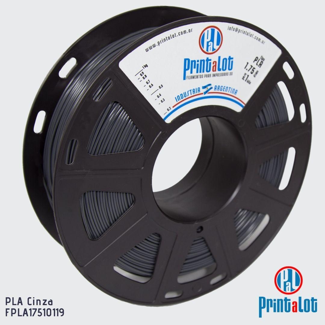 Filamento PLA MAX - Cinza - PrintaLot - 1.75mm - 1KG