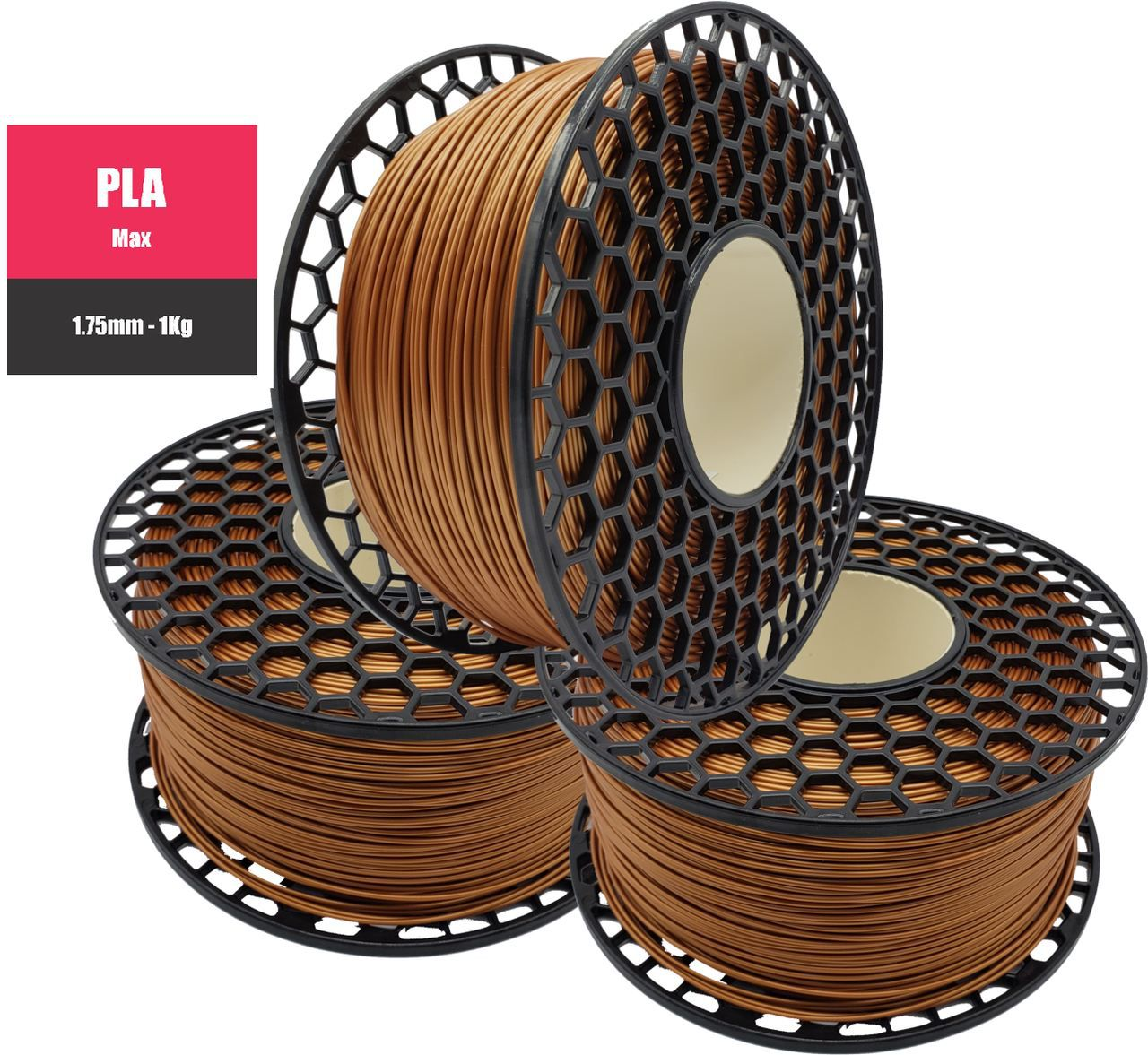 Filamento PLA Max - Cobre - National 3D - 1.75mm - 1KG