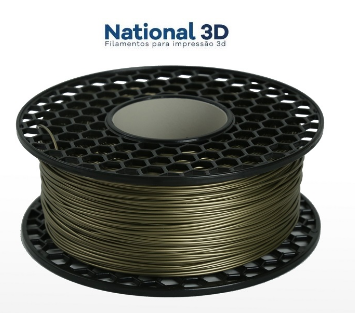Filamento PLA Max - Dourado - National 3D - 1.75mm - 1KG