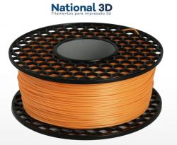 Filamento PLA Max - Laranja - National 3D - 1.75mm - 500g
