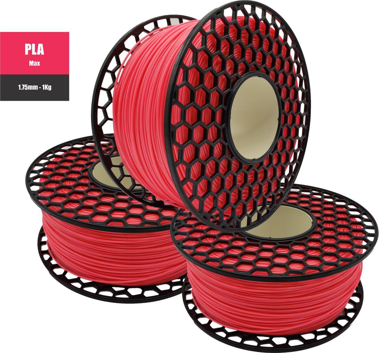 Filamento PLA Max - Rosa - National 3D - 1.75mm - 1KG