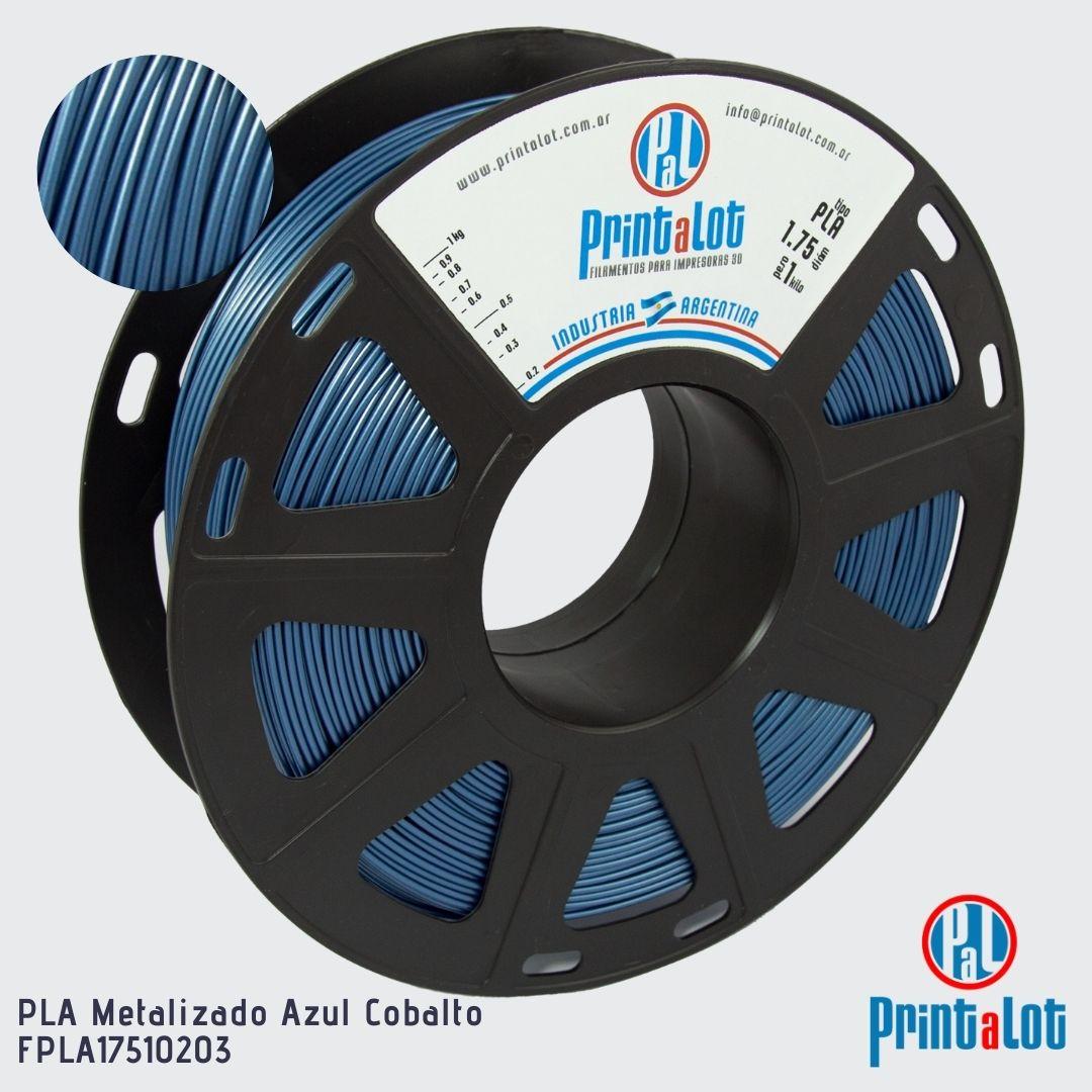 Filamento PLA - Metalizado Azul Cobalto - PrintaLot - 1.75mm - 1KG