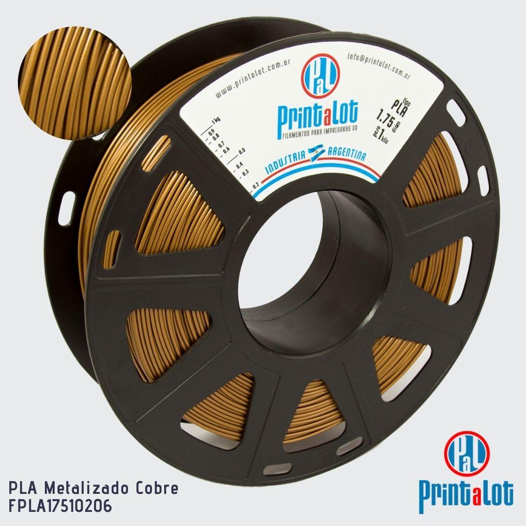 Filamento PLA - Metalizado Cobre - PrintaLot - 1.75mm - 1KG