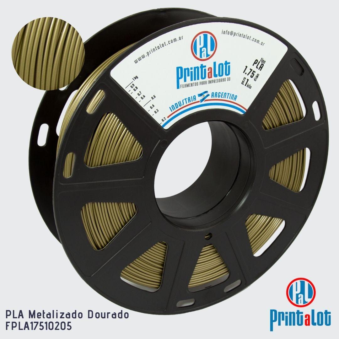 Filamento PLA - Metalizado Dourado - PrintaLot - 1.75mm - 1KG