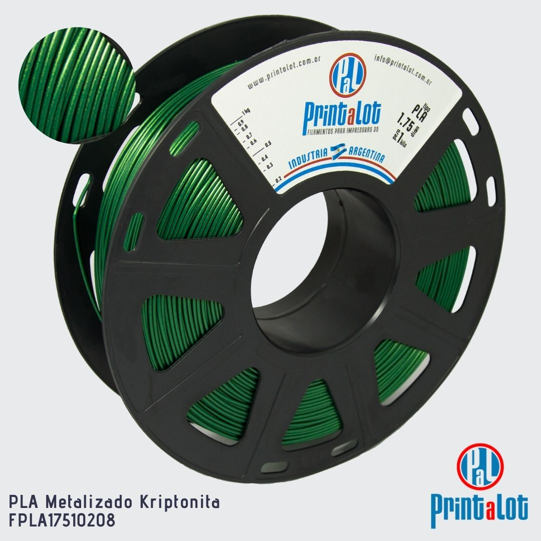 Filamento PLA - Metalizado Kriptonita - PrintaLot - 1.75mm - 1KG