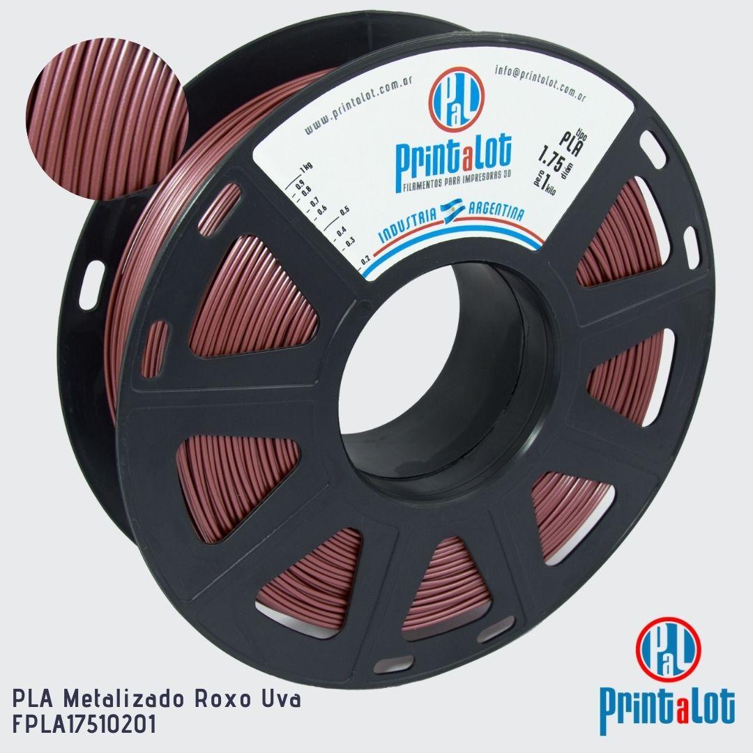 Filamento PLA - Metalizado Roxo Uva - PrintaLot - 1.75mm - 1KG