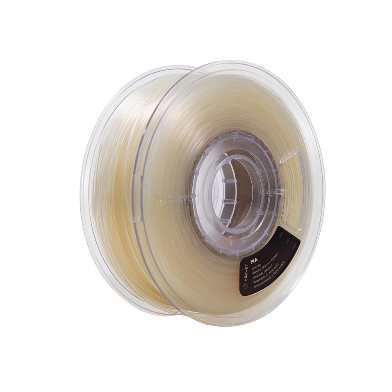 Filamento PLA - Natural - Cliever - 1.75mm - 1kg