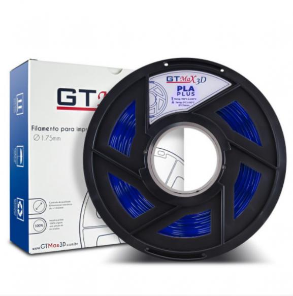 Filamento PLA Plus - Azul Translúcido - GTMax 3D - 1.75mm - 1KG