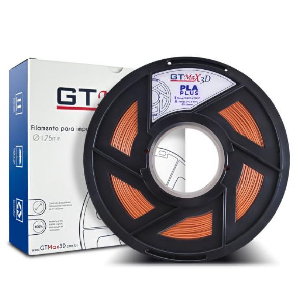 Filamento PLA Plus - Bronze - GTMax 3D - 1.75mm - 1KG