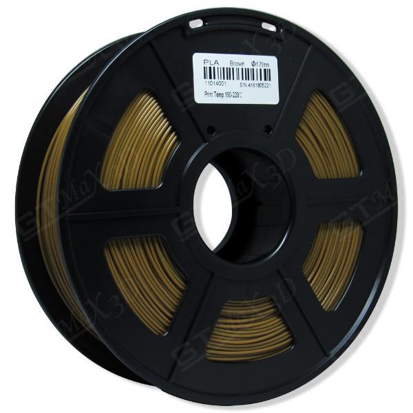 Filamento PLA Plus - Marrom - GTMax 3D - 1.75mm - 1KG