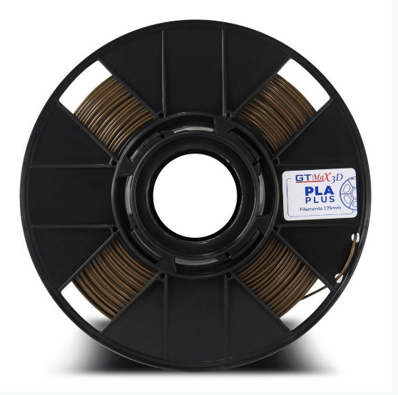 Filamento PLA Plus - Marrom - GTMax 3D - 1.75mm - 1KG