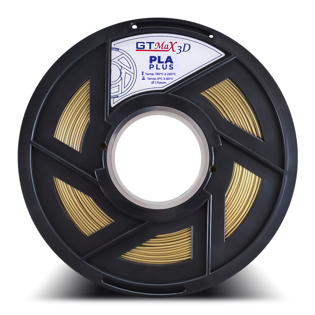 Filamento PLA Plus - Ouro - GTMax 3D - 1.75mm - 1KG