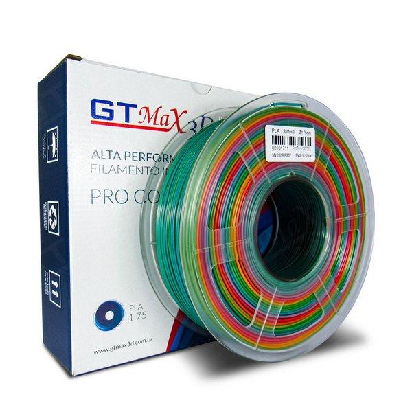 Filamento PLA Plus - Rainbow - GTMax 3D - 1.75mm - 1KG