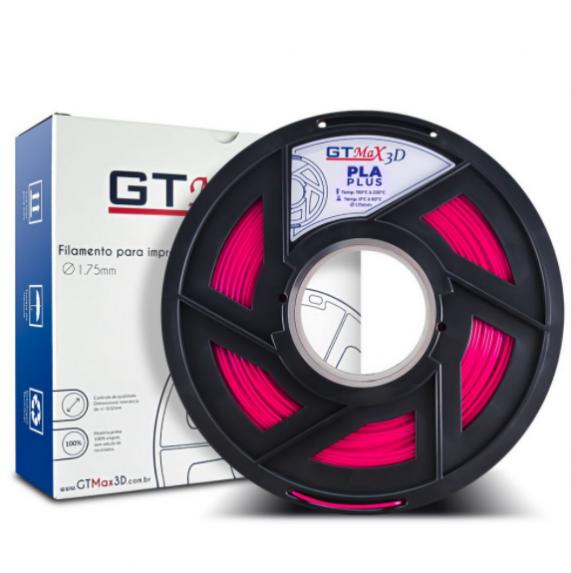 Filamento PLA Plus - Rosa - GTMax 3D - 1.75mm - 1KG