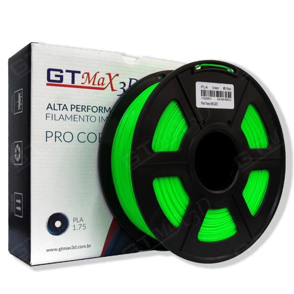 Filamento PLA Plus - Verde - GTMax 3D - 1.75mm - 1KG