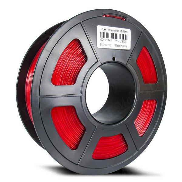 Filamento PLA Plus - Vermelho Translúcido - GTMax 3D - 1.75mm - 1KG