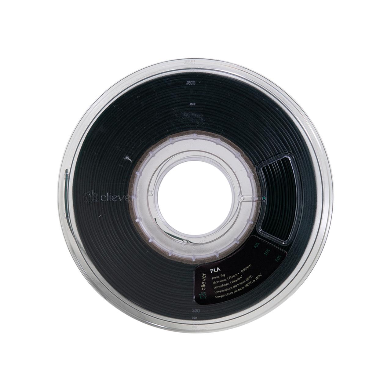Filamento PLA - Preto Perolado - Cliever - 1.75mm - 1kg