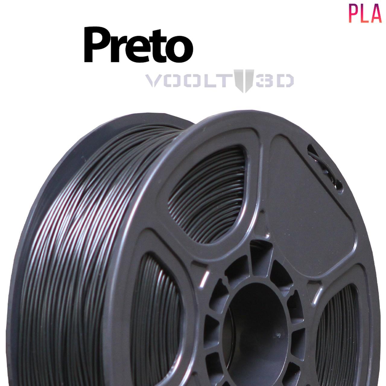 Filamento PLA - Preto - Voolt - 1.75mm - 1kg