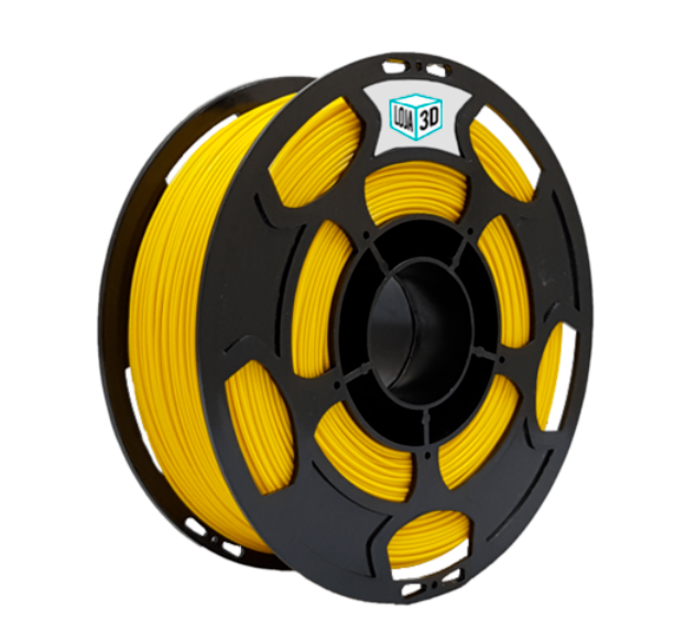 Filamento PLA Pro - Amarelo - Loja 3D - 3.00mm - 1kg