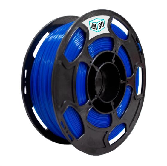 Filamento PLA Pro - Azul Translúcido - Loja 3D - 1.75mm - 1kg