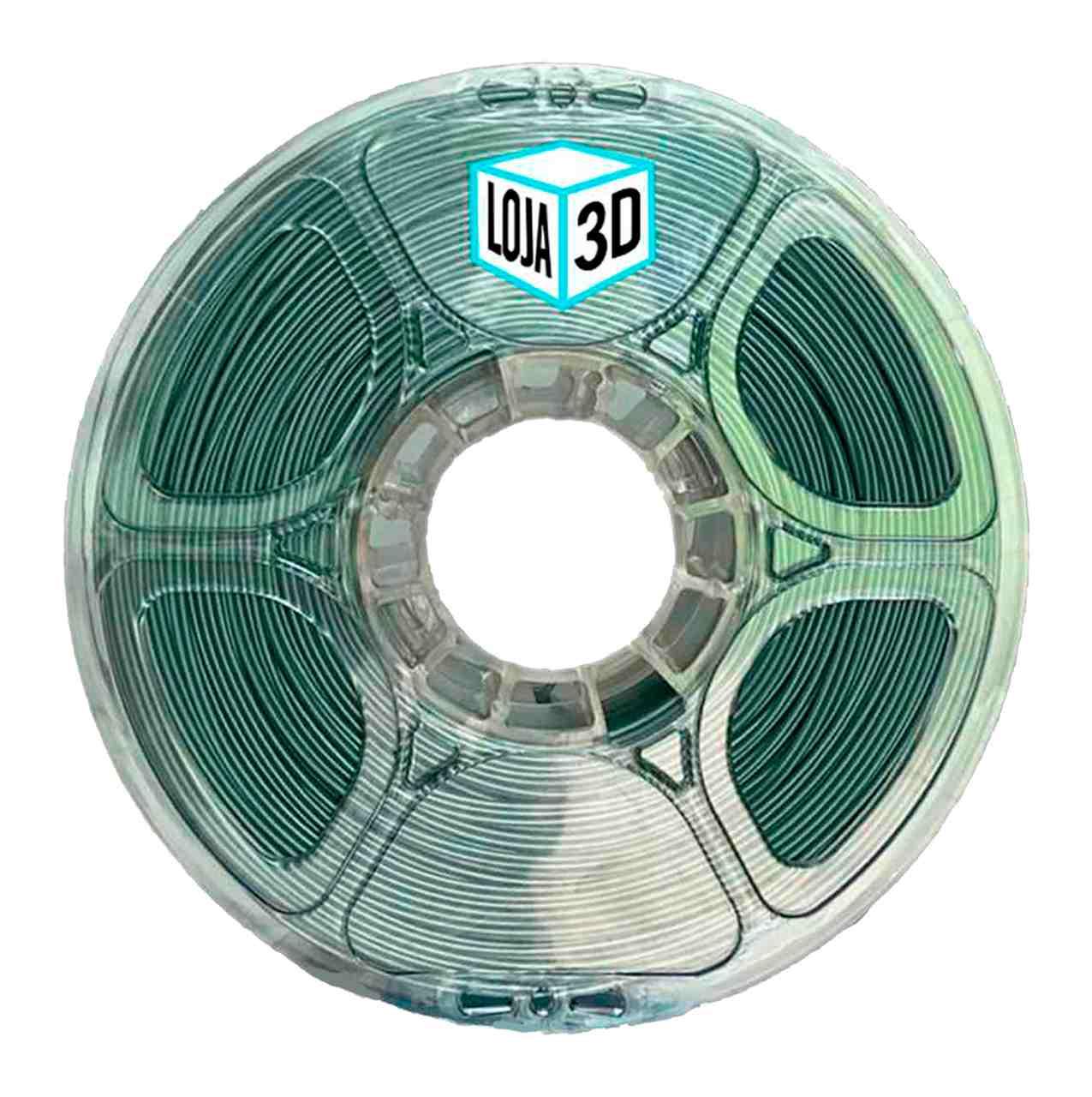 Filamento PLA Pro de Alta Resistência - Cinza - Loja 3D - 1.75mm - 1kg