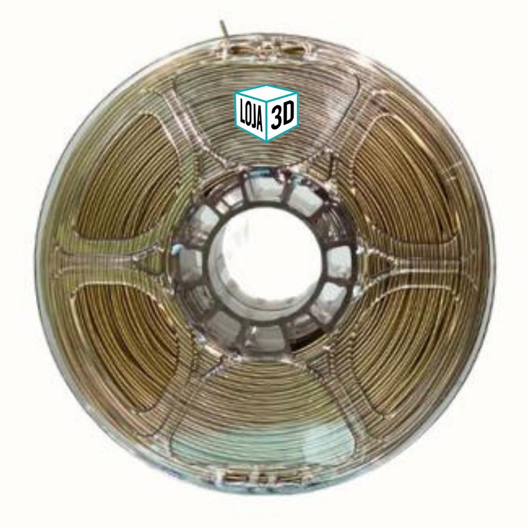 Filamento PLA Pro de Alta Resistência - Dourado - Loja 3D - 1.75mm - 1kg