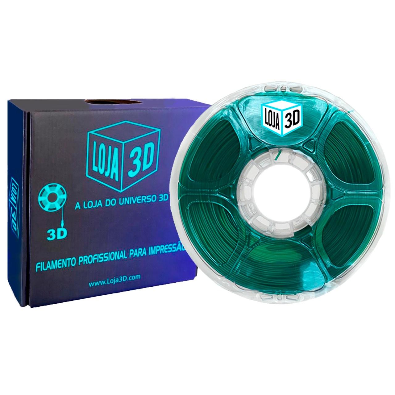 Filamento PLA Pro de Alta Resistência - Verde - Loja 3D - 1.75mm - 1kg