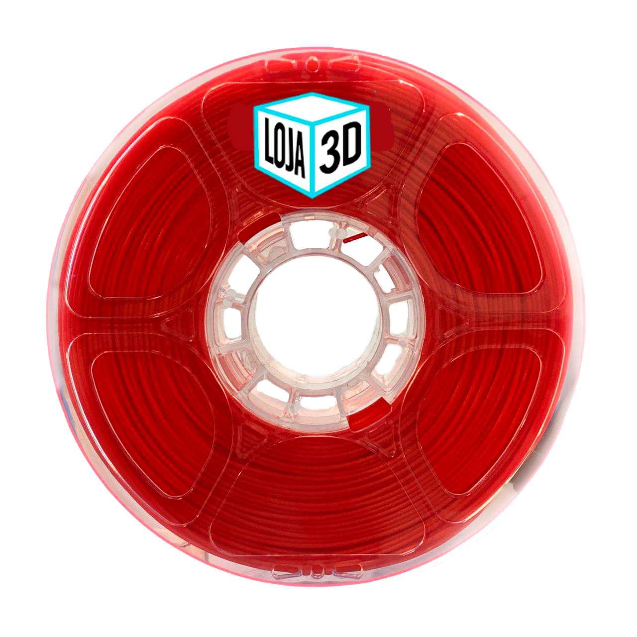Filamento PLA Pro de Alta Resistência - Vermelho - Loja 3D - 1.75mm - 1kg