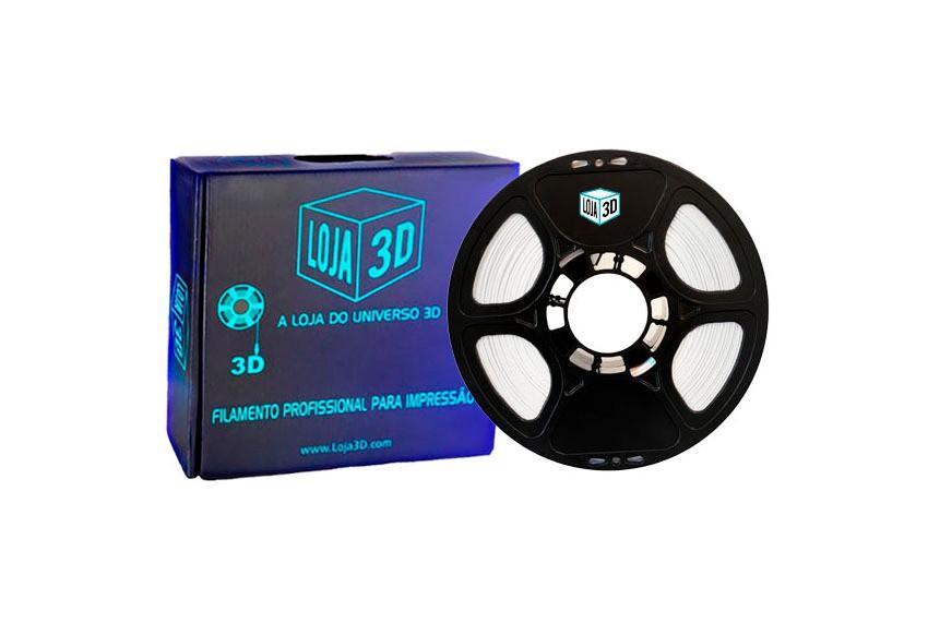 Filamento PLA Pro - ECO - Branco - Loja 3D - 1.75mm - 1kg