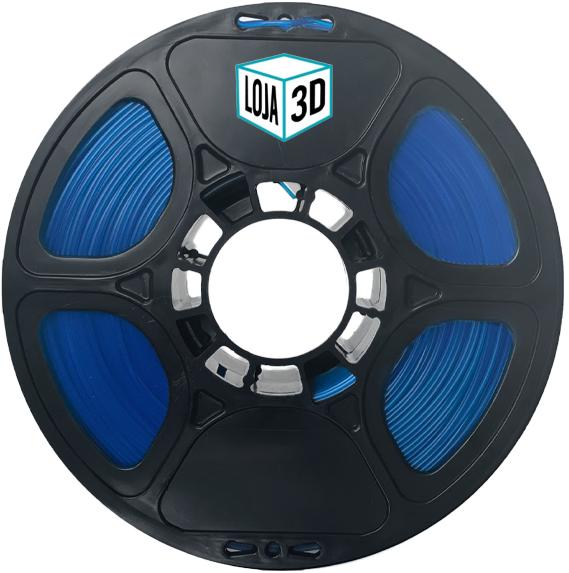 Filamento PLA Pro - ECO - Light Blue Dark Silk - Loja 3D - 1.75mm - 1kg