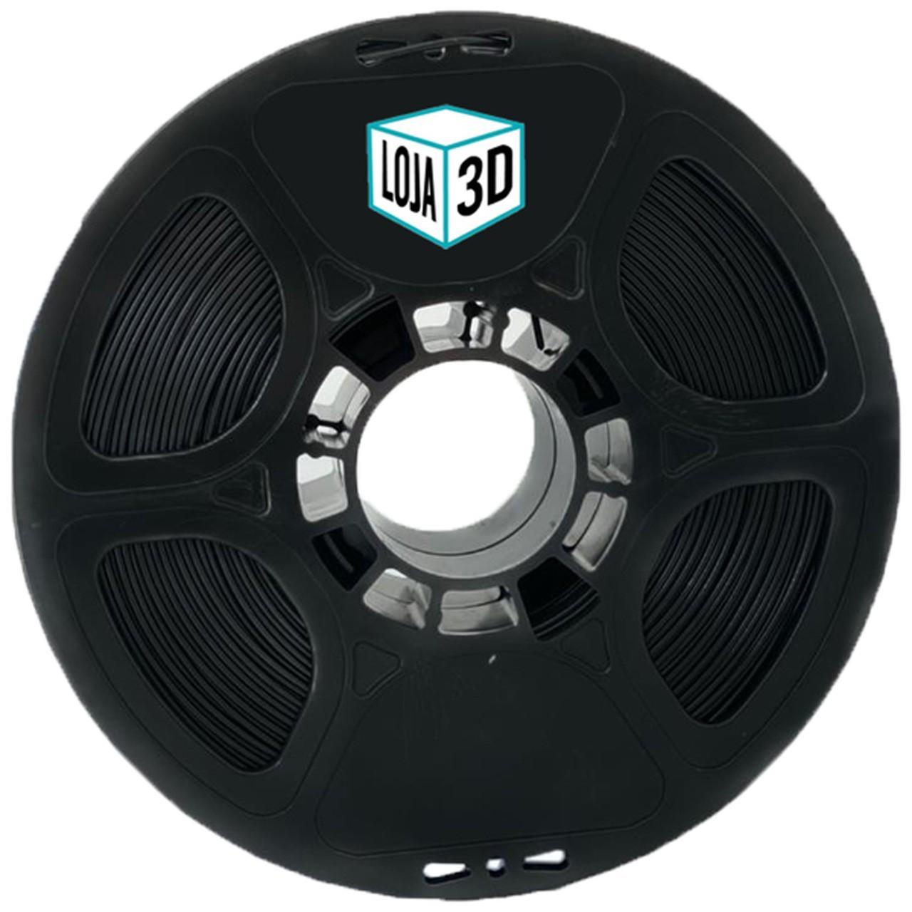 Filamento PLA Pro de Alta Resistência - Preto - Loja 3D - 1.75mm - 1kg