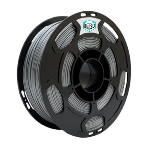 Filamento PLA Pro - Prata - Loja 3D - 3.00mm - 1kg