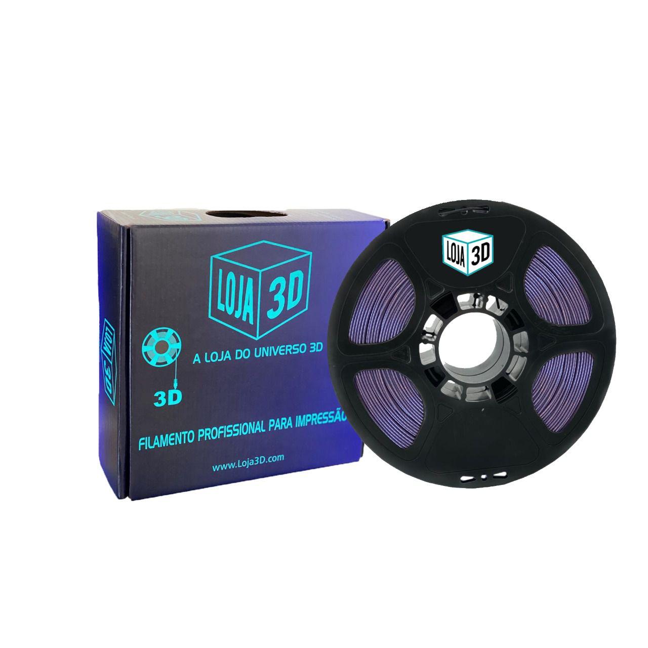 Filamento PLA Pro - Roxo - Loja 3D - 1.75mm - 1kg