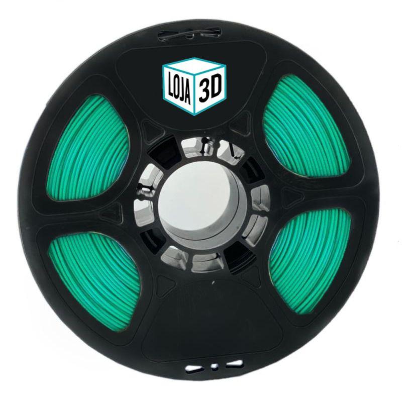 Filamento PLA Pro - Verde Lagoon - Loja 3D - 1.75mm - 1kg