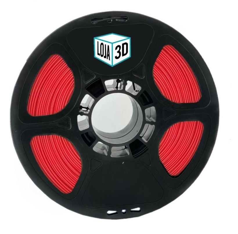 Filamento PLA Pro - Vermelho- Loja 3D - 1.75mm - 1kg